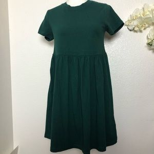 Urban Outfitters High Waist Cotton Green Dress
